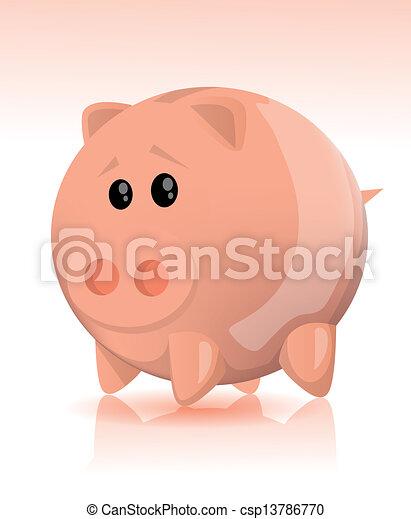 El banco de los cerdos - csp13786770