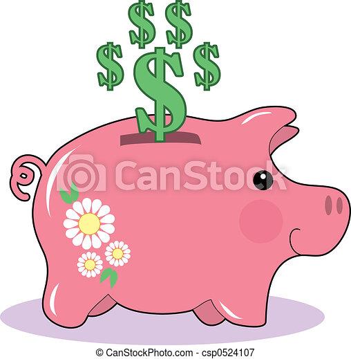 El banco de los cerdos - csp0524107