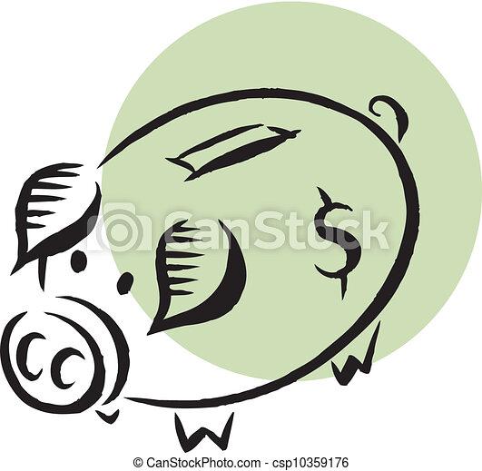 El banco de los cerdos - csp10359176