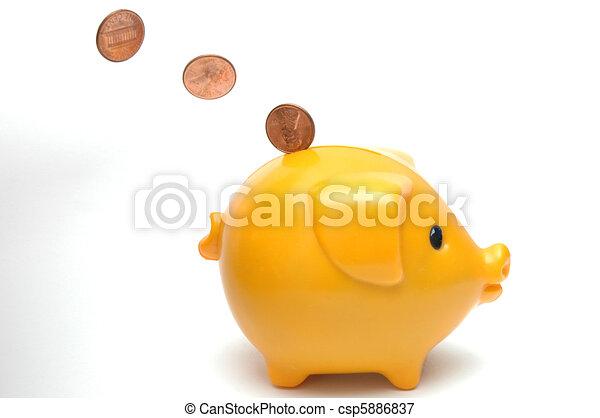 El banco de los cerdos - csp5886837