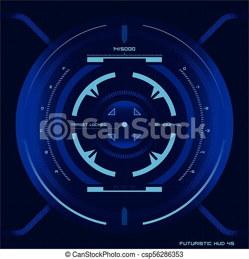 hud, écran, toucher, interface utilisateur, futuriste - csp56286353