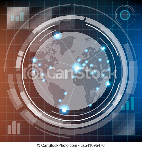 hud, futuriste, infographics - csp41095476