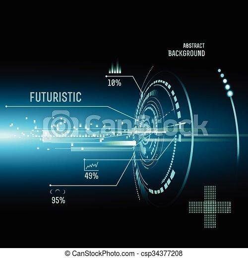hud, imfographics, interface, futuriste - csp34377208
