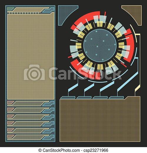 hud, moderne, virtuel, interface utilisateur, technologie, futuriste - csp23271966