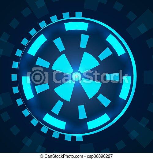 hud., sci, interface utilisateur, fi, futuriste - csp36896227