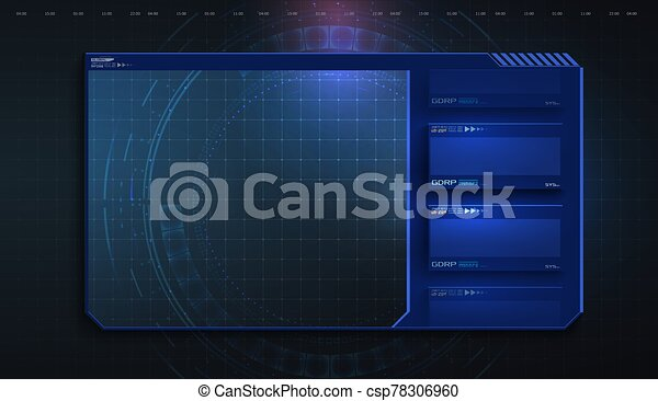 Hud Ui Gui Futuristic User Interface Screen Elements Set High Tech Screen For Video Game Sci Fi Concept Design Callouts