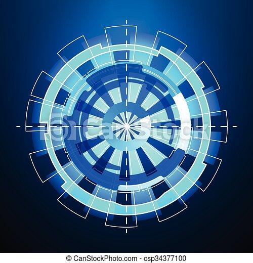 hud, vecteur, sci-fi, futuriste, interface - csp34377100