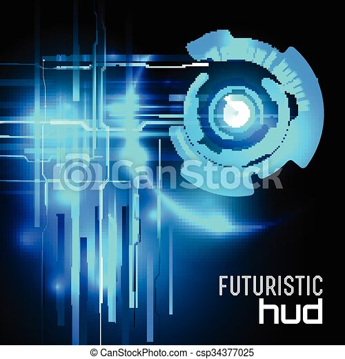hud, vecteur, sci-fi, futuriste, interface - csp34377025