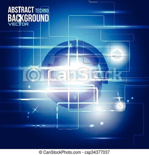 hud, vecteur, sci-fi, futuriste, interface - csp34377037