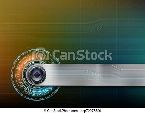 hud, webcam, photo, lentille, appareil photo, interface, ou - csp72078529