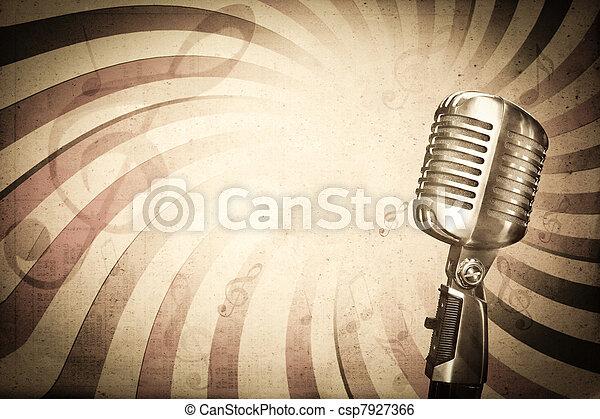 hudba, za, grafické pozadí - csp7927366