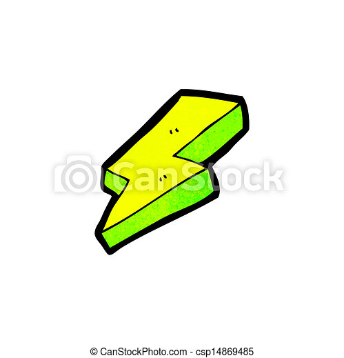 Cartoon de relámpagos eléctricos - csp14869485