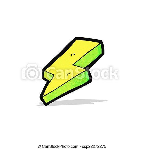Un rayo eléctrico de dibujos animados - csp22272275