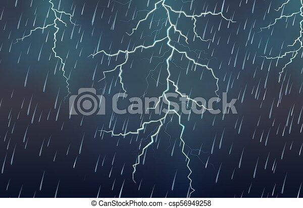 Un rayo y una tormenta - csp56949258
