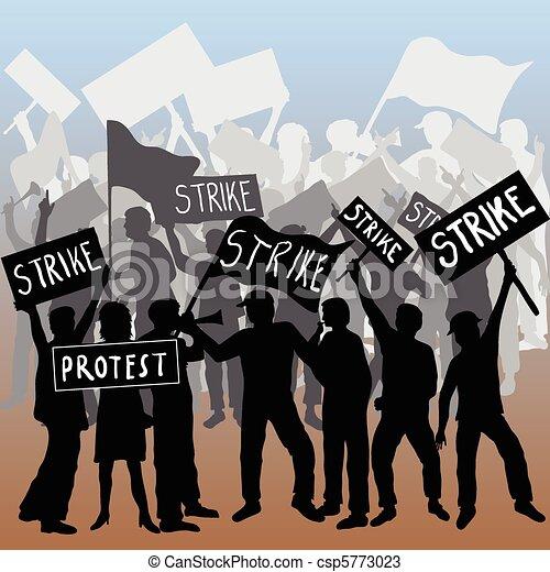 Los trabajadores atacan y protestan - csp5773023