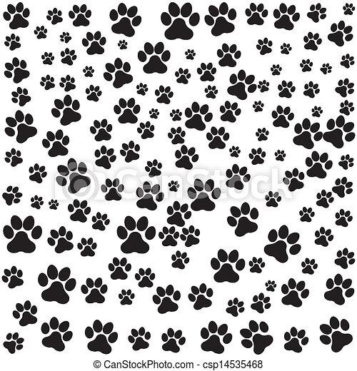 Huella Perro Encima Perro Ilustración Vector Plano De Fondo