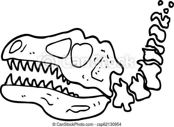 Huesos De Dinosaurios Blancos Y Negros Canstock El hallazgo es interesante, puesto que la mayoría de los dinosaurios depredadores usaban los dientes solo para alimentarse no obstante, este depredador consumía los huesos en busca de sal y médula. huesos de dinosaurios blancos y negros