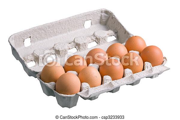 Huevos en cartón - csp3233933