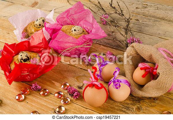 huevos, de, pascua, mona - csp19457221