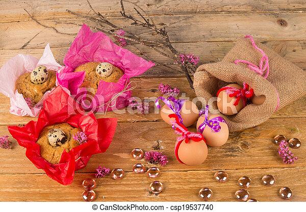 huevos, de, pascua, mona - csp19537740