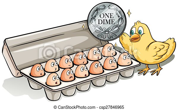 Docena de huevos - csp27846965