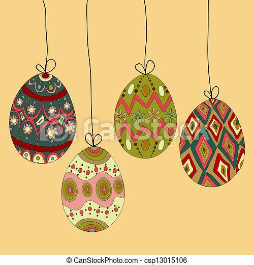 huevos, pascua, ahorcadura - csp13015106