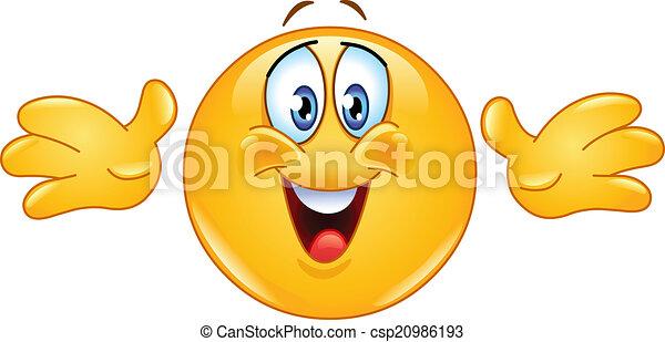 Hug emoticon - csp20986193