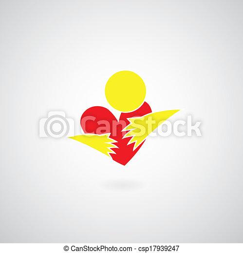 hug symbol - csp17939247