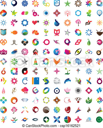 Huge collection of trendy icons - csp16162521