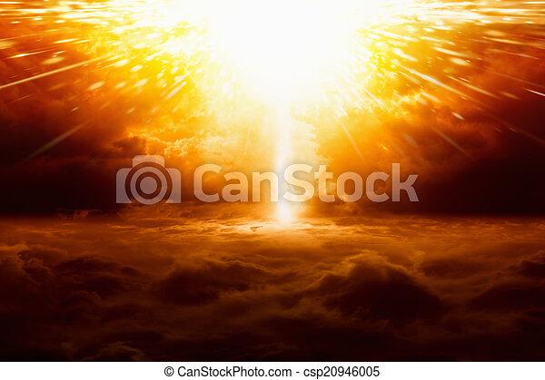 Huge explosion - csp20946005