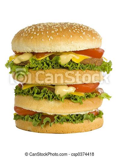 huge hamburger - csp0374418