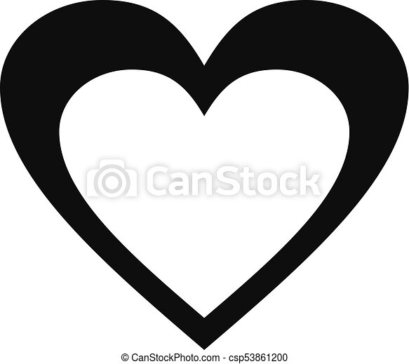 huge heart icon simple style huge heart icon simple illustration rh canstockphoto com Big Art Graphics huge heart clipart