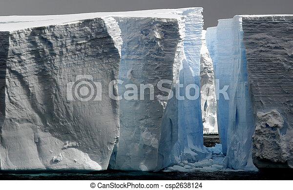 Huge icebergs with gap - csp2638124