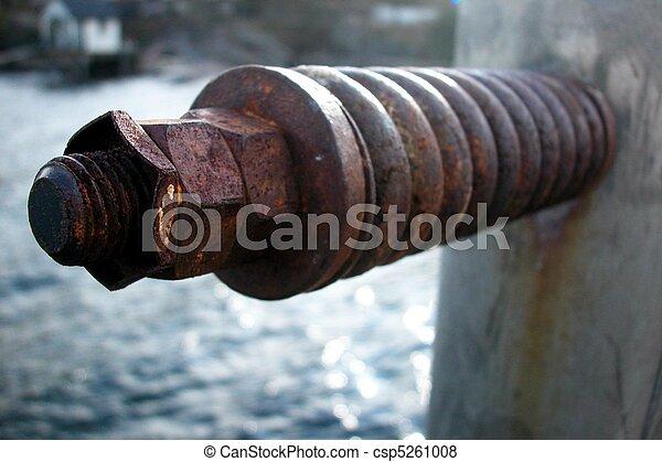 Huge rusty bolt in 3d - csp5261008