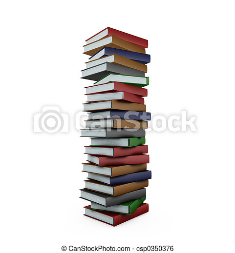 Huge stack of books - csp0350376