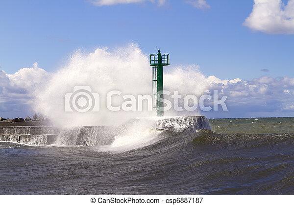 Huge wave - csp6887187