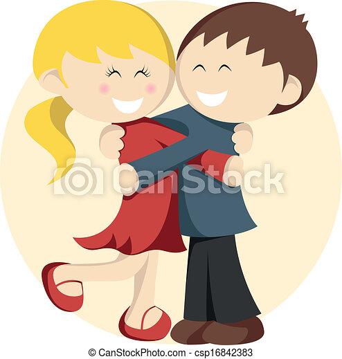 Hugging Kids - csp16842383