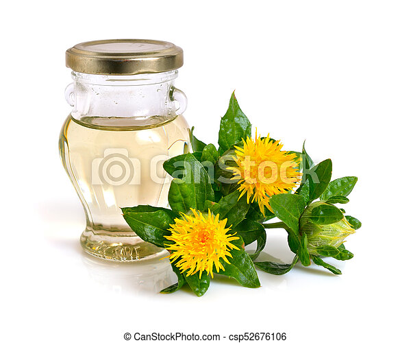 huile, bottle., plante, carthame - csp52676106