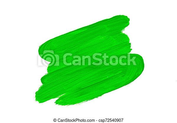 huile, coups, résumé, vert, brosse, peinture - csp72540907