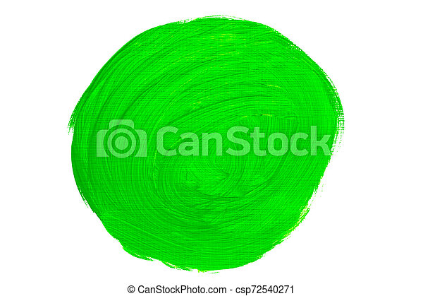 huile, coups, résumé, vert, brosse, peinture - csp72540271