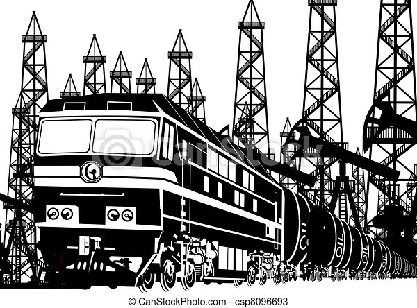 huile, locomotive, amtrak - csp8096693