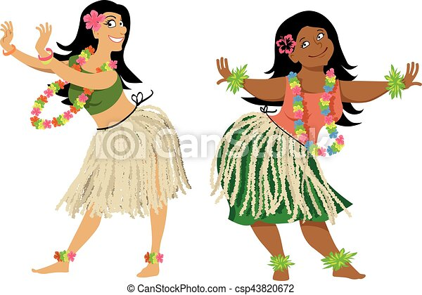 hula dance lesson hula dance teacher and student vectors rh canstockphoto com