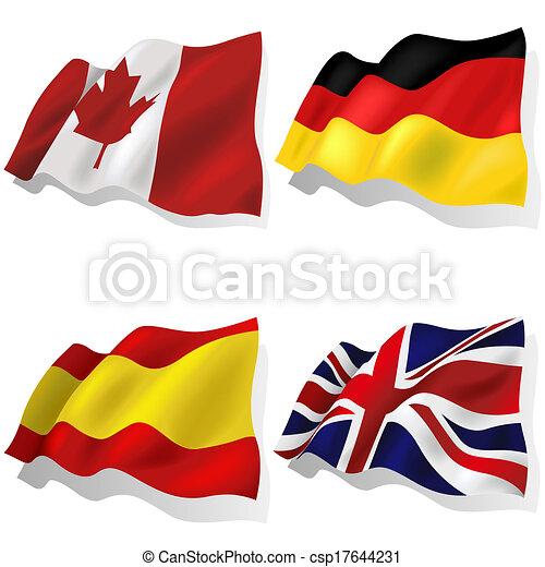 hullámos, zászlók - csp17644231