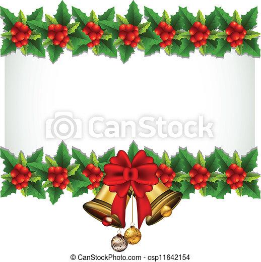 hulst, frame, kerstmis, beauty - csp11642154