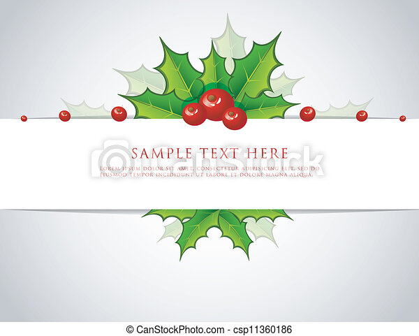 hulst, kerstmis, tak, back - csp11360186