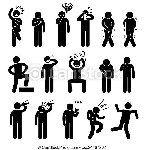 Human Action Poses Postures - csp24467207