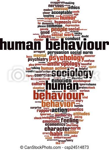 Human behaviour word cloud - csp24514873
