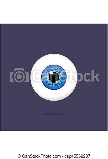 Human Blue Eye Isolated On Dark Background Eyeball Iris Pupil