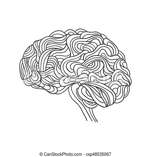 creative concept of the human brain vector rh canstockphoto com brain vector png brain vector image