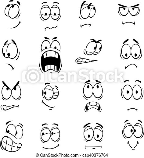 Human Cartoon Eyes Emoticons Symbols Human Cartoon Eyes With Face